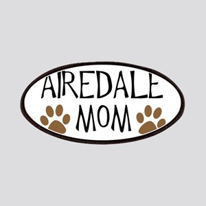 Airedale Mom Oval Patches