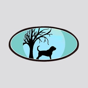 Tree & Bloodhound Dog Patches