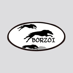 Many Borzois Running Patch