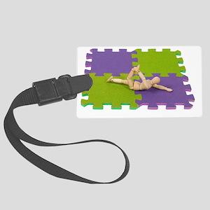 GymnasticsStretching112809 copy. Large Luggage Tag
