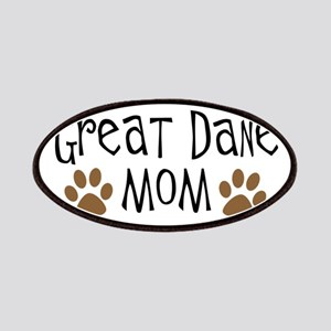 Great Dane Mom Oval Patches