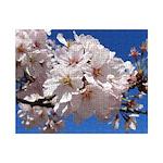 White Cherry Blossoms Small Puzzle