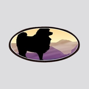 Keeshond Purple Mountain Patches
