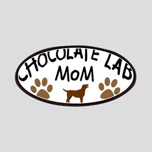 Chocolate Lab Mom Patches