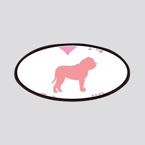 pink heart mastiff Patches