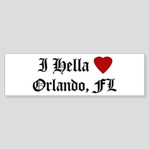 Hella Love Orlando Bumper Sticker