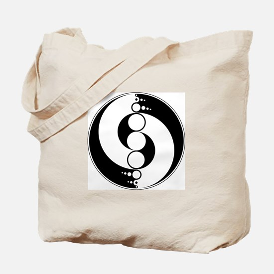 Tote bag with crop circle