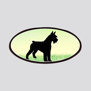 Grassy Field Schnauzer Dog Patches