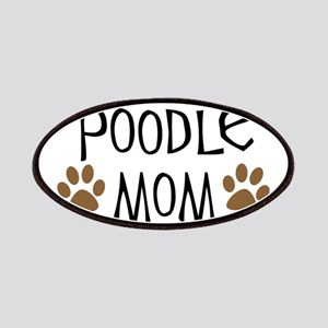 Poodle Mom Oval Patches