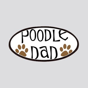 Poodle Dad Oval Patches