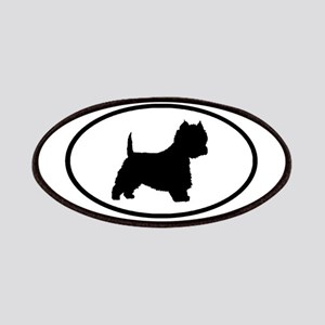 West Highland Terrier Oval Patches