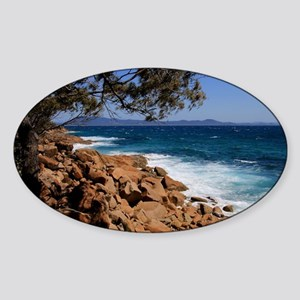 Rocky coast near South West Rocks, Austral Sticker