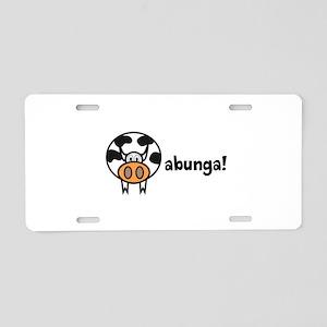 Cowabunga! Aluminum License Plate