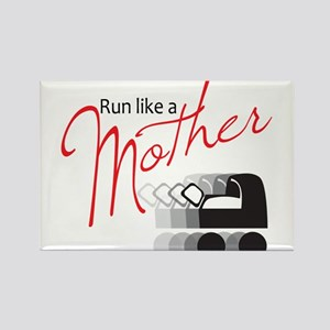 Run Like a Mother Rectangle Magnet