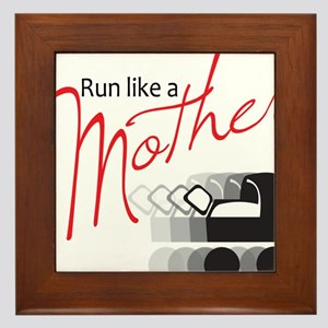 Run Like a Mother Framed Tile