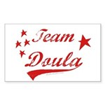 Team Doula Rectangle Sticker