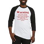 Coach's Warning Baseball Jersey