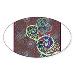 Celtic Design Oval Sticker