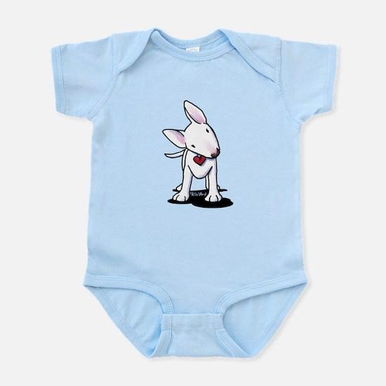 Curious Bull Terrier Infant Bodysuit