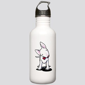 Curious Bull Terrier Stainless Water Bottle 1.0L