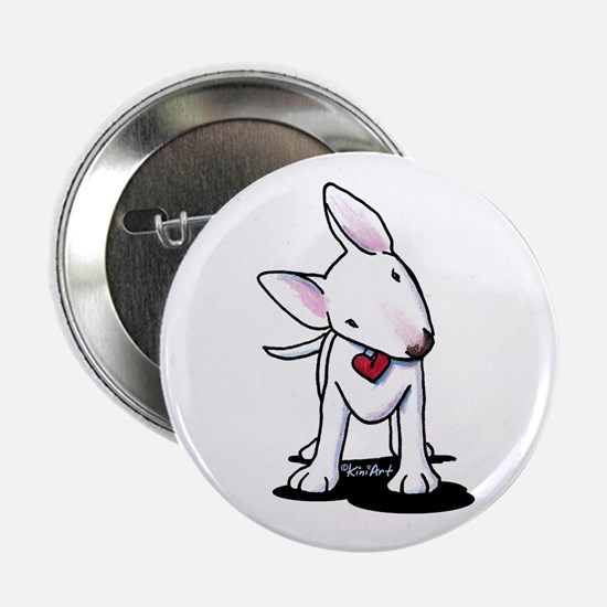 "Curious Bull Terrier 2.25"" Button"