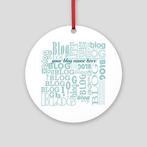 My Blog Ornament (Round)