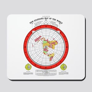 New Flat Stationary Earth Map Mousepad