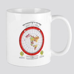 New Flat Stationary Earth Map Mugs