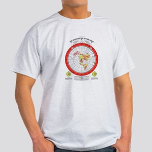 New Flat Stationary Earth Map T-Shirt