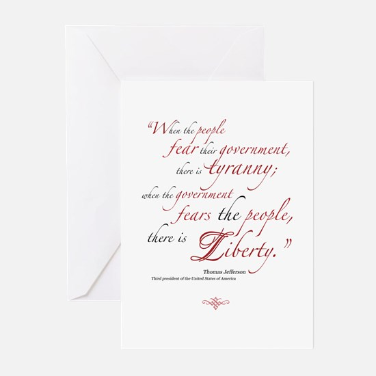 Fear or Liberty Greeting Cards (Pk of 10)