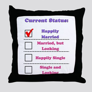 Happily Married Throw Pillow