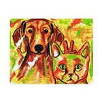 Dachshund & Cat Small Puzzle