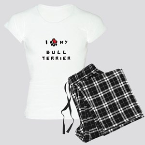 I *heart* My Bull Terrier Women's Light Pajamas