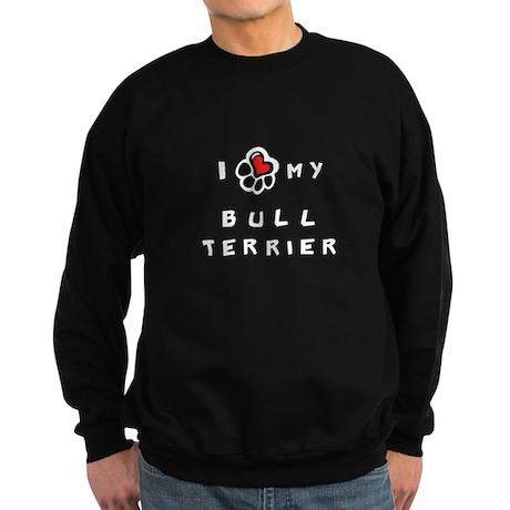 I *heart* My Bull Terrier Sweatshirt (dark)