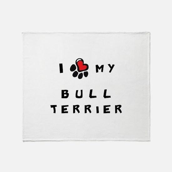 I *heart* My Bull Terrier Throw Blanket