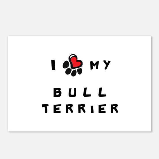 I *heart* My Bull Terrier Postcards (Package of 8)