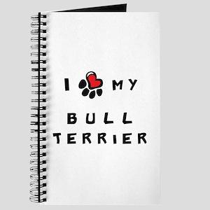 I *heart* My Bull Terrier Journal