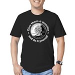Give Them A Quarter Men's Fitted T-Shirt (dark)
