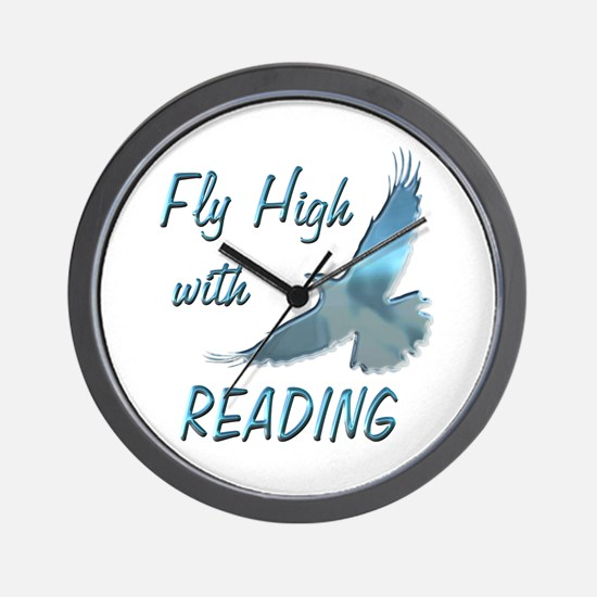 Fly with Reading Wall Clock