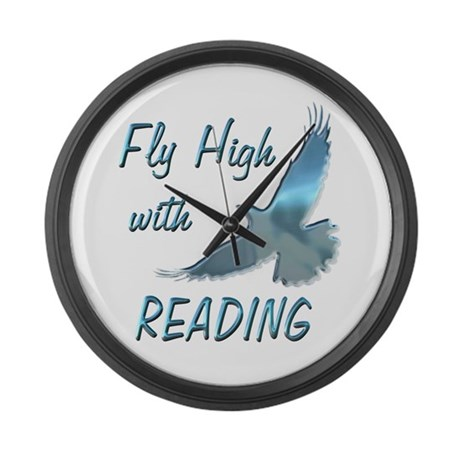 Fly with Reading Large Wall Clock