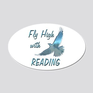 Fly with Reading 22x14 Oval Wall Peel