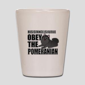 Pomeranian Shot Glass