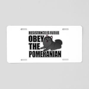 Pomeranian Aluminum License Plate