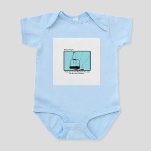 Chair Lift Blues Infant Creeper