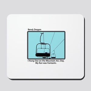 Chair Lift Blues Mousepad
