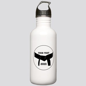 Custom Martial Arts Black Belt Water Bottle