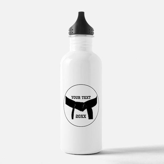 Custom Martial Arts Black Belt Water Bottle