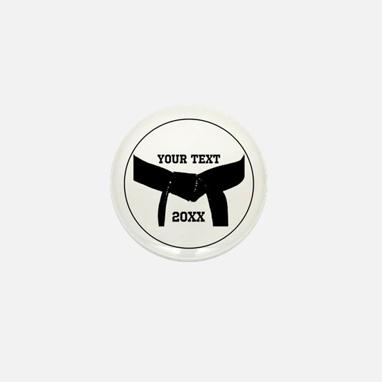 Custom Martial Arts Black Belt Mini Button