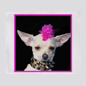 Chihuahua Punk Throw Blanket