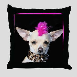 Chihuahua Punk Throw Pillow